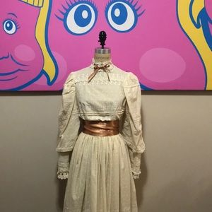 Illusions Vintage 1970s Wedding Granny Dress